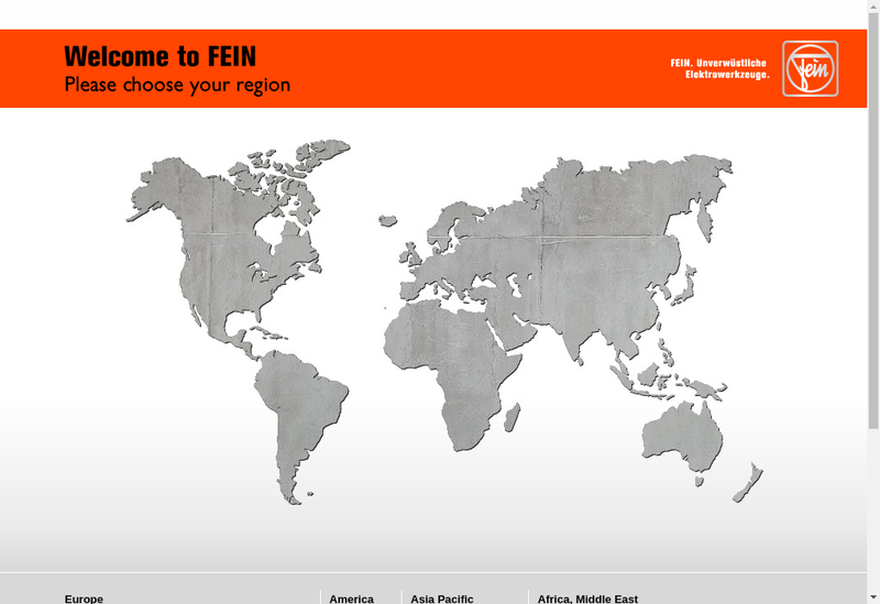 Capture d'écran du site de Fein France