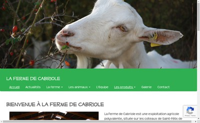 Site internet de EARL de Cabriole