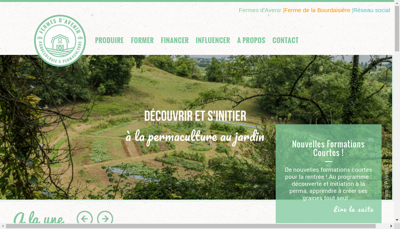 Capture d'écran du site de Association Fermes d'Avenir