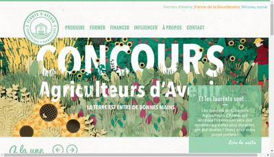 Site internet de Association Fermes d'Avenir