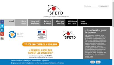 Capture d'écran du site de Societe Fr d'Etude et Traitement Douleur