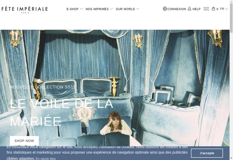 Capture d'écran du site de Fete Imperiale