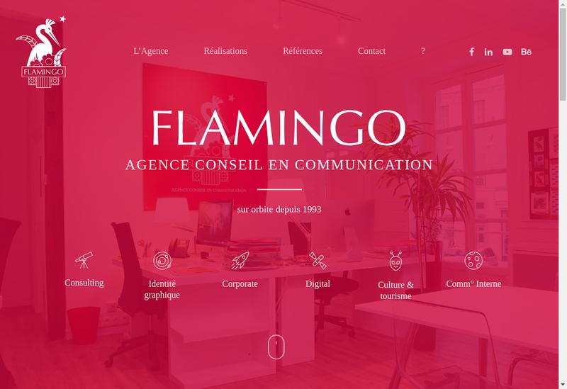 Capture d'écran du site de Flamingoz