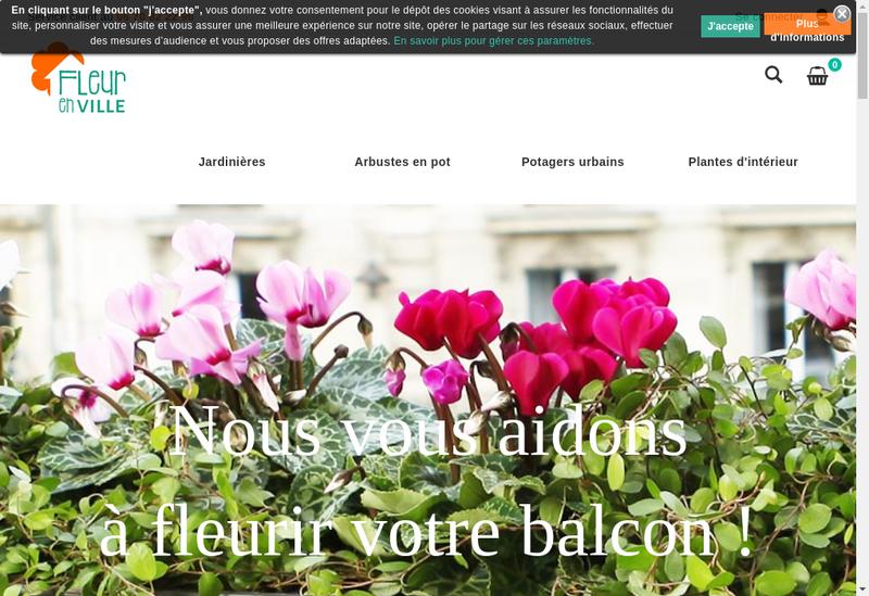 Capture d'écran du site de Fleur en Ville