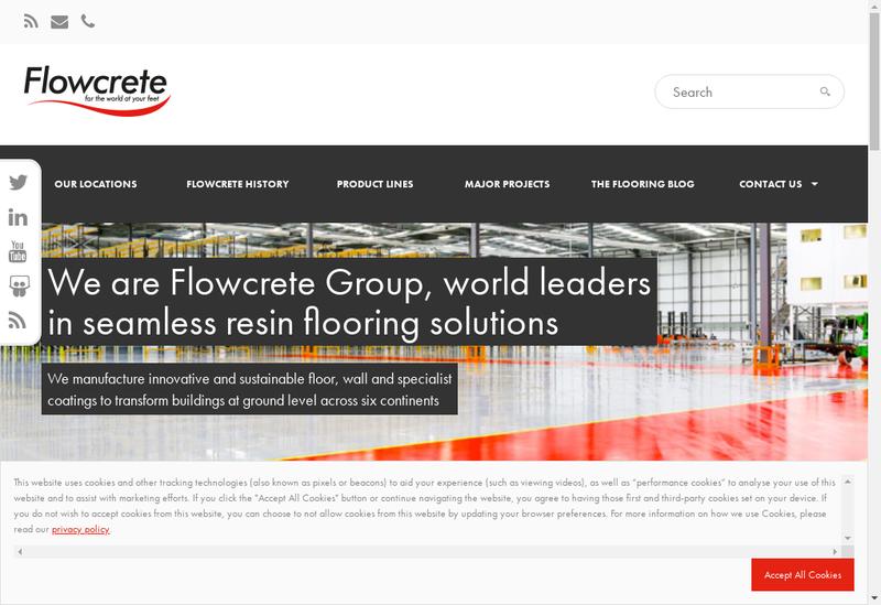 Capture d'écran du site de Flowcrete France