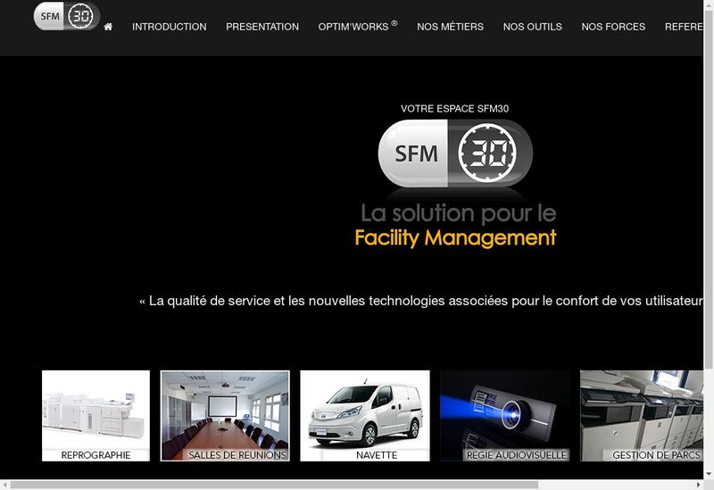 Capture d'écran du site de Telima Sfm 30