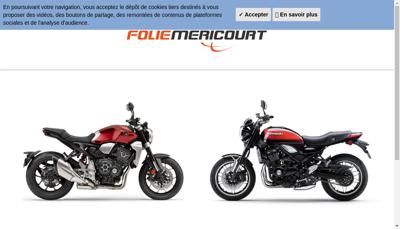 Capture d'écran du site de Garage Folie Mericourt