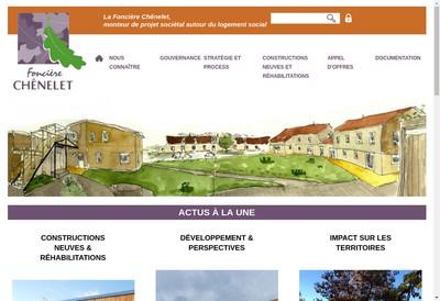 Site internet de Fonciere Chenelet