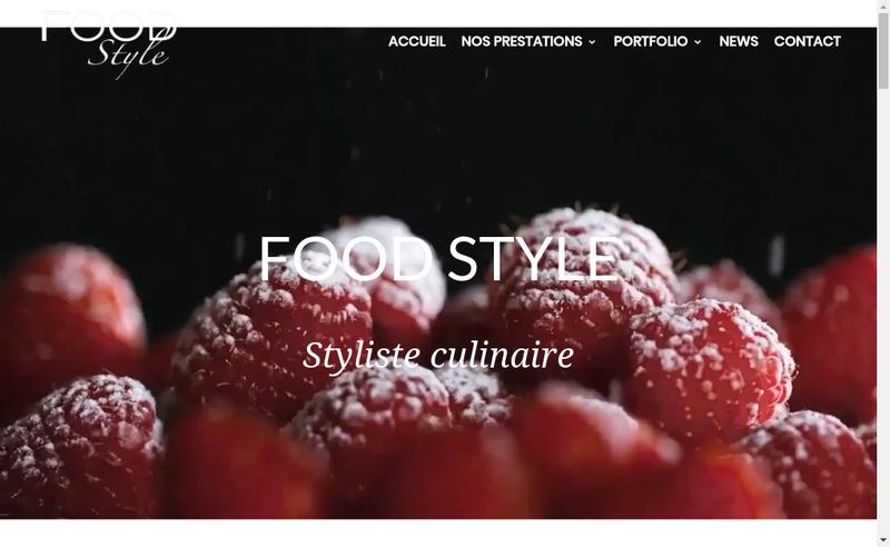 Capture d'écran du site de Food Style