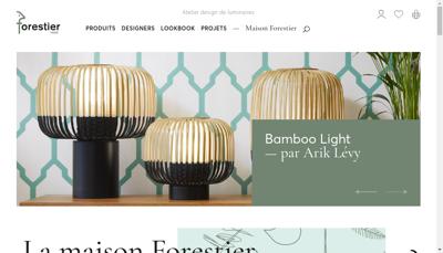 Capture d'écran du site de Forestier