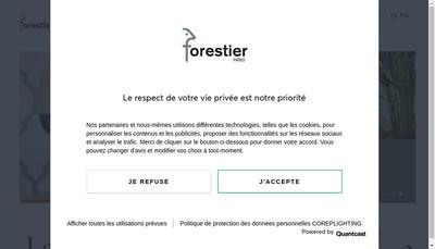 Site internet de Forestier