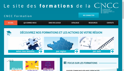 Capture d'écran du site de Cncc Formation