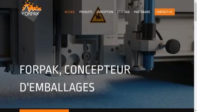 Site internet de Forpak