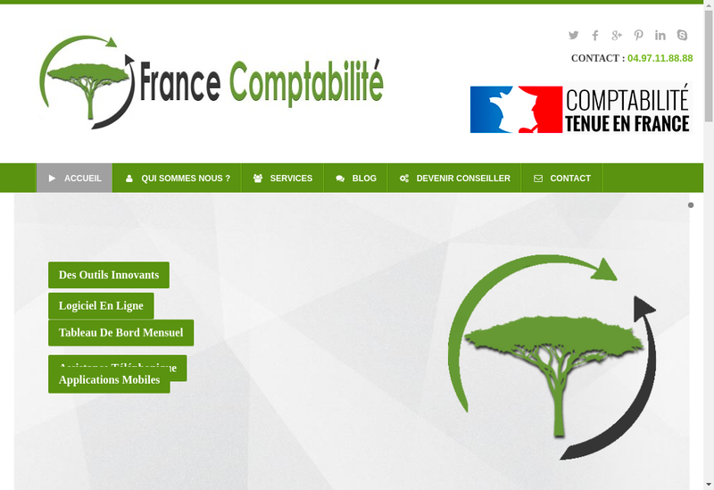 Capture d'écran du site de France Comptabilite