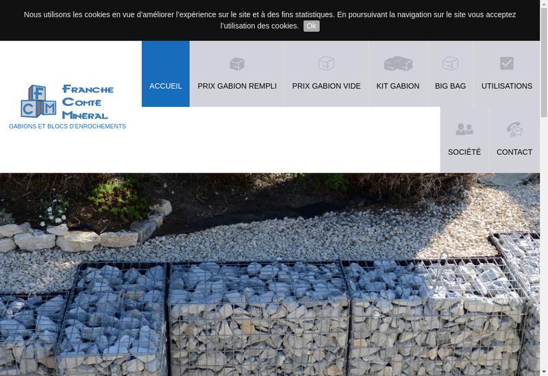 Capture d'écran du site de Franche Comte Mineral