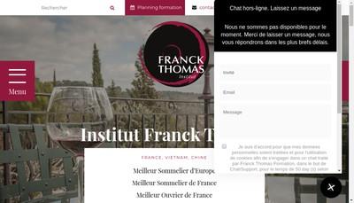 Site internet de Franck Thomas Formation