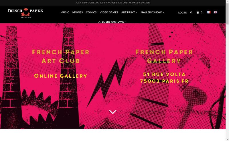 Capture d'écran du site de French Paper Art Club