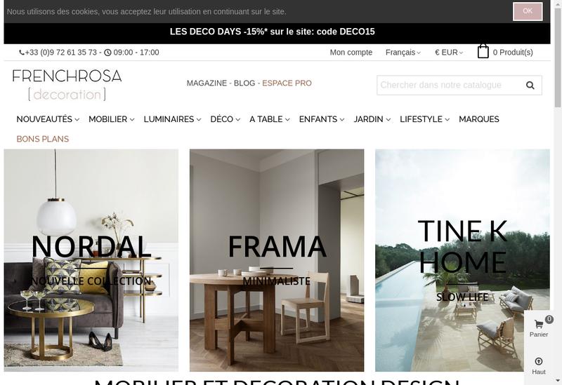 Capture d'écran du site de Frenchrosa