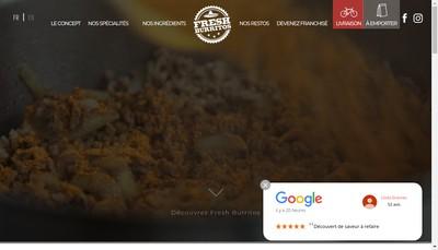 Site internet de Fresh Burritos