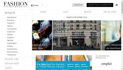 Capture d'écran du site de Fashion Press