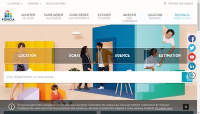 Site internet de Brosset Immobilier