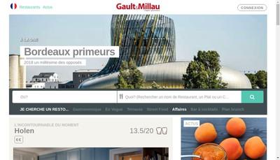 Site internet de Gaultmillau