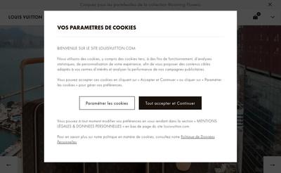 Site internet de Louis Vuitton Editeur
