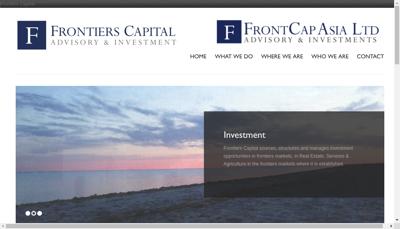 Capture d'écran du site de Frontiers Capital