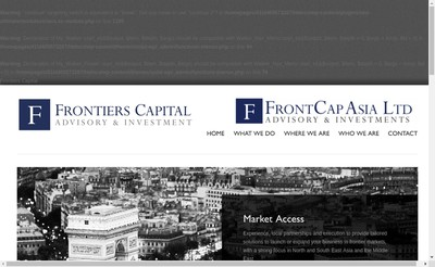 Site internet de Frontiers Capital