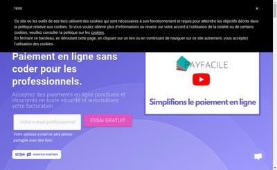 Site internet de Payfacile