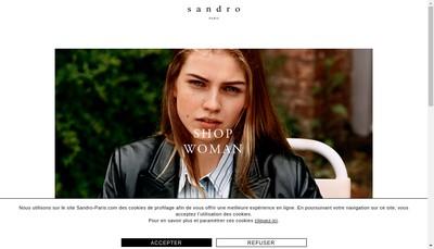 Site internet de Sandro