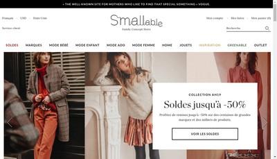 Site internet de Smallable