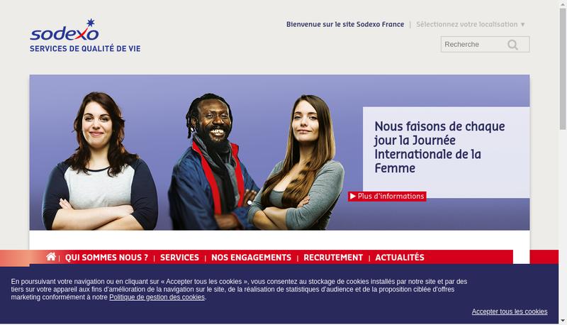 Capture d'écran du site de Sodexo Energie et Maintenance