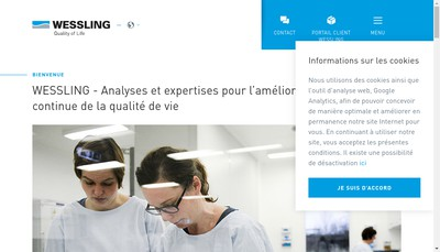 Site internet de Wessling France SARL