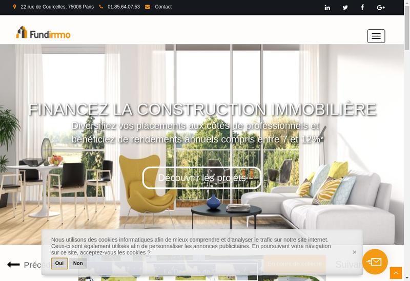 Capture d'écran du site de Fundimmo