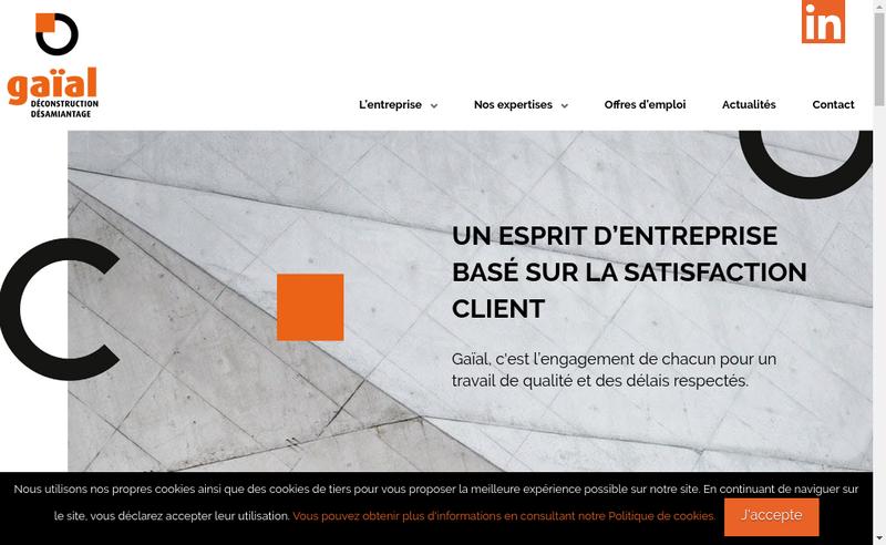 Capture d'écran du site de Gaial