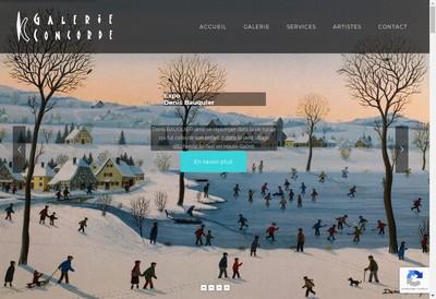 Site internet de Galerie Concorde
