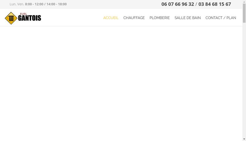 Capture d'écran du site de Gsc Gantois Sanitaire Chauffage