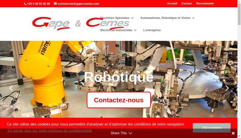 Capture d'écran du site de Cemes