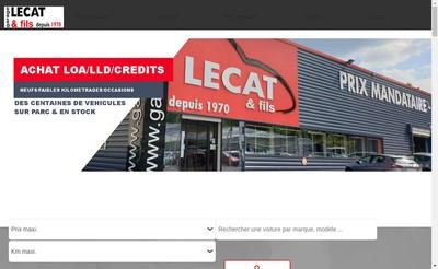 Site internet de Garage Lecat et Fils