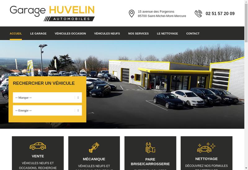 Capture d'écran du site de SARL Garage Huvelin
