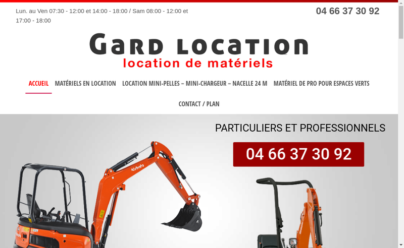 Capture d'écran du site de Gard Location