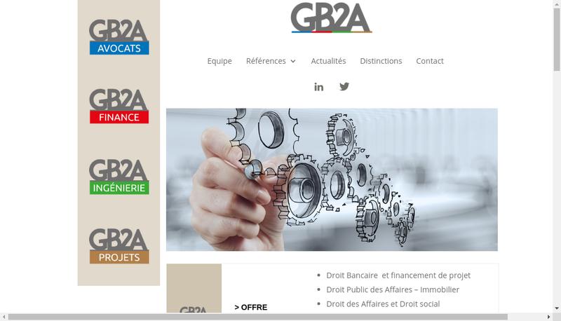 Capture d'écran du site de Gb2A Ingenierie