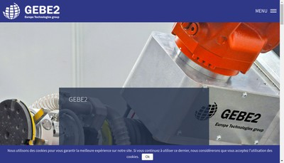 Site internet de Gebe2 Productique