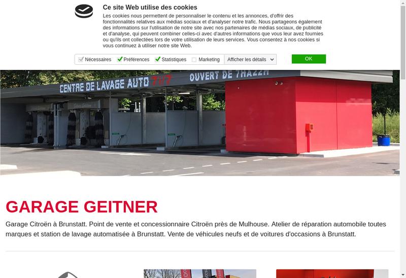 Capture d'écran du site de Garage Geitner