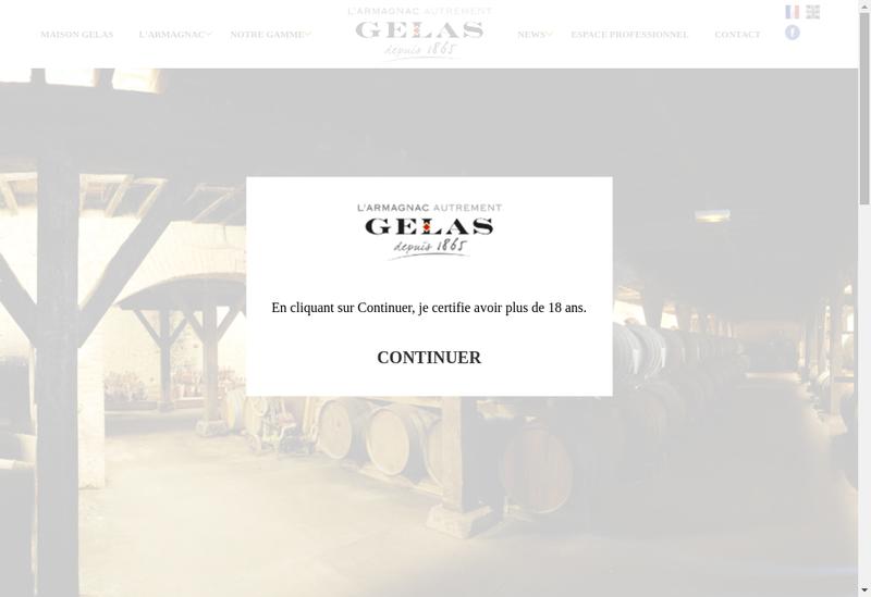 Capture d'écran du site de Maison Gelas