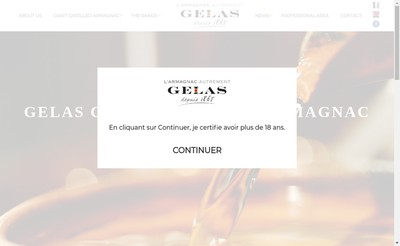 Site internet de Maison Gelas