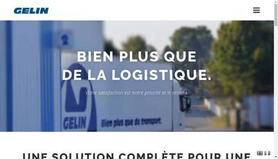 Site internet de Transports Gelin