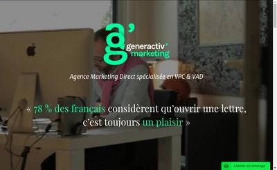 Site internet de Generactiv'Marketing