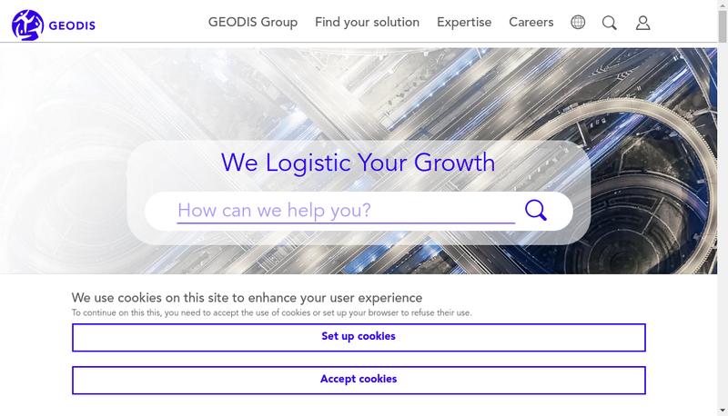 Capture d'écran du site de Geodis Sco